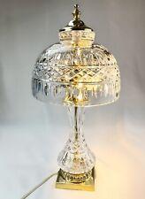 Vintage Bohemia Crystal Glass Czechoslakia Small Side Table Lamp
