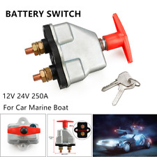 Car Truck Battery Switch 12V-24V 250A Battery Isolator Disconnect Cut Off Switch