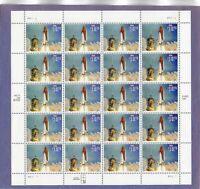 U.S. SHEET OF 20 SCOTT#2544A 1995 $10.75 SPACE SHUTTLE ENDEAVOUR MNH P#P11111
