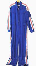 Mens XL Coveralls Jumpsuit Uniform Flight Suit Costume Customized Stripes Patch