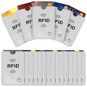 Savisto RFID Blocking Card Holder 20 Pack - Credit/Debit/Bank Protector Sleeves