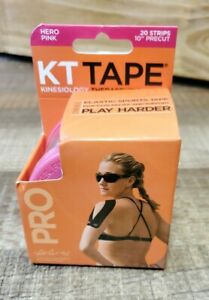 """KT Tape Hero Pink 20 Strips 10"""" Precut Elastic Sports Tape Pain and Support A12"""