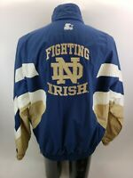 Vintage 90s Notre Dame Fighting Irish Men's Starter Jacket Coat 2XL XXL