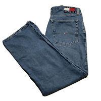 Vintage 90's Tommy Hilfiger Tommy Jeans Big Flag Denim Jeans 36x30 Light