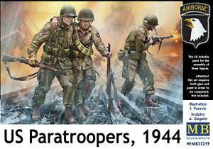 Master Box 35219 1/35 US Paratroopers, 1944 WW II Scale plastic model kit