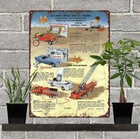 "1956 Doepke Model Toys Jaguar Tractor Fire Truck Kit Metal Sign 9x12"" 60716"