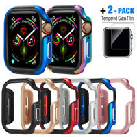 For Apple Watch Series 6 5 4 Cover 40 44mm Bumper Protector Metal Aluminum Case