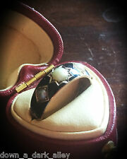 Antique Victorian 9 Carat Gold Black Enamel & Pearl Mourning Ring - 1878 Chester