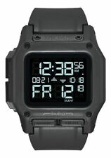 New Nixon Regulus Digital Watch All Black LCD Display 100m Water-resistant