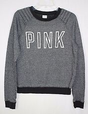 Pink by Victoria's Secret Women's XS Gray Crewneck Long Sleeve Pullover Sweater