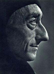 Jacques Cousteau - Original Vintage Photogravure by Yousuf Karsh -1967- Pristine