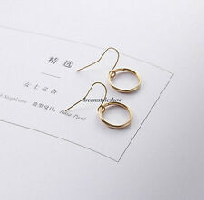 Fashion Simple Women Circles Hook Drop Dangle Ear Studs Earrings Korean