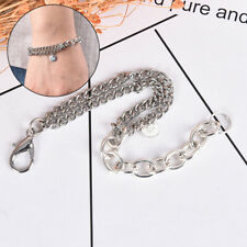 Fashion Stainless Steel Double-layer Bracelet Silver Bangle Chain Charm Jewe JC