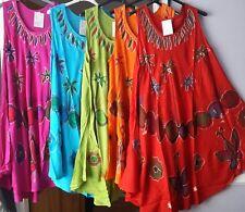 Womens Ladies Summer Butterfly Celebrity Swing Dress Tunic Kaftan Free Size