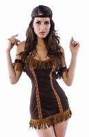 Indian Dress Costume Women Native American Princess Adult Halloween Pocahontas
