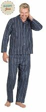 MEN'S 100% BRUSHED COTTON YARN DYED PYJAMAS SIZES S, M, L, XL, 2XL, 3XL, 4XL, 5X
