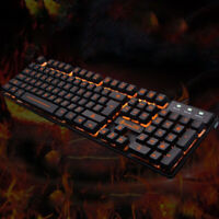 Mechanical Gaming Keyboard RGB LED Rainbow Backlit 104 Keys