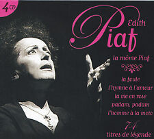 EDITH PIAF - 4 CD - LA MOME PIAF - 74 TITRES DE LEGENDE