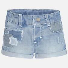 Patternless Denim Trousers & Shorts (0-24 Months) for Girls