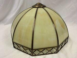 "Large Tiffany Art Deco Style Lamp Shade Diameter 16"" Height 9"""