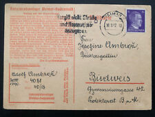 1942 Germany Buchenwald Concentration Camp Postcard Cover Adolf Ambroz