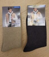2 Pairs Men's Wool/Cashmere Winter Socks (W2026)