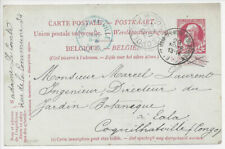 Belgium: 1905,11,29 postal card (H&G 45) to Coquilhatville, Congo from Brussells