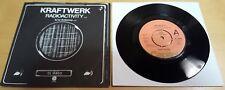 """Kraftwerk-radiactividad 7"""" Vinilo Capitol CL 15853 ex/ex rara versión de demostración"""