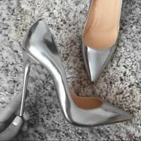Women's Sexy Stilettos High Heels Shiny Party Leather Pointed Toe Pumps Shoes