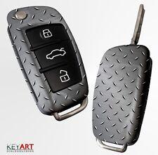 AUDI Schlüssel Cover Blende für Klappschlüssel Fernbedienung Design metal 2