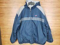 adidas Vintage 90s Blue/Gray Reversible Full Zip Jacket Mens Size XL