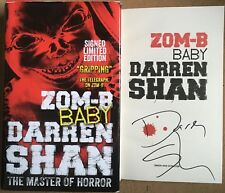 Zom-B Baby By Darren Shan Signed Limited First Edition Copy
