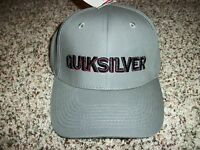 QUIKSILVER New NWT Mens One Size Fits Most S/M L/XL Small Medium Gray HAT CAP