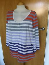 Ladies EX BODEN Tunic Top Size 22 Red Grey White