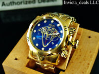 Invicta Reserve Mens 52mm Venom VIPER Swiss Chronograph 18K Gold Plated SS Watch