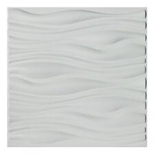 Art3d PVC Wall Panel Matt White, Wavy Design,Pack of 12 Tiles Cover 32 Sq.Ft