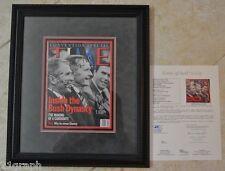 George H.W., George W, + Jeb Bush Signed Time Mag w/ JSA LOA #Y45742 + Proof