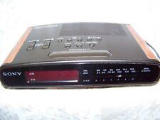 Sony Dream Machine Dual Alarm Clock ICF-C420 Wood Grain Free Shipping