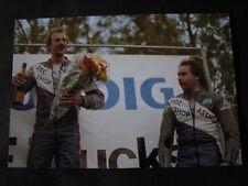 Photo Podium 500cc ONK wegrace Heerlen 1987 1e Hennie Boerman 3e Herwie Peters