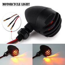 2pcs Universal Motorcycle Metal LED Turn Signal Indicators Blinker Amber Light