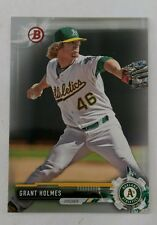 2017 BOWMAN #BP45 SILVER PARALLEL #074/499 GRANT HOLMES OAKLAND ATHLETICS