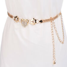 Cute Stylish Noble Women's Lady Young Girls Fashion Heart Metal Chain Style Belt