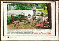 1966 Meadowcraft Birmingham AL Wrought Iron Furniture PRINT AD