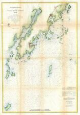 1864 Coastal map Nautical Chart St. Georges River and Muscle Ridge Channel Maine