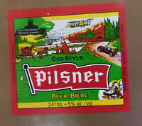 VINTAGE CANADIAN BEER LABEL - MOLSON BREWERY, OLD STYLE PILSNER 341 ML