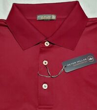 Peter Millar Crown Sport Polo Shirt Mens 2XL NWT Maroon