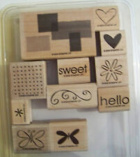 Stampin Up Sweet Shapes Missing 1 great set heart butterfly hello
