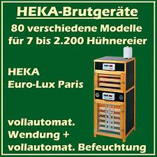 HEKA Euro-Lux Paris - Brutgerät für 600+375 Eier - vollaut. Wendung+Befeuchtung