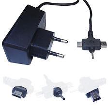 CARICABATTERIE 3 IN 1 DA MURO CAVO MINI MICRO USB JACK 2.0 CARICATORE 1A RETE