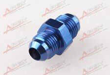 AN-6 To AN6 Aluminum Straight Union Fitting Adapter Adaptor Blue